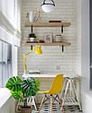 Стілець на дерев'яних ніжках з пластиковим сидінням Nik XXL для барів, кафе, ресторанів, стильних квартир, фото 4