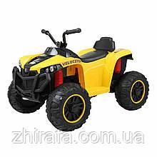 Дитячий електричний квадроцикл Електромобіль Т-738, світло, звук, МР3 Жовтий