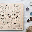 Деревянные цифры, развивающий пазл для изучения цифр, натуральная деревянная развивашка для малыша, фото 4