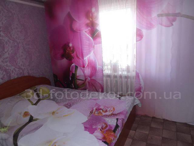"""Фото Шторы и покрывало """"Пурпурная орхидея"""" 37"""