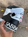 Кроссовки мужские Dolce & Gabbana D3882 черные, фото 4