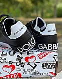 Кроссовки мужские Dolce & Gabbana D3882 черные, фото 5