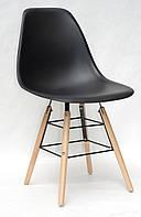Пластиковый стул с деревянными ножками, стул на буковых ножках с сиденьем пластик