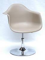 Кресло пластиковое на круглой основе регулируемое Leon CH - Base для салонов красоты, барбершопов