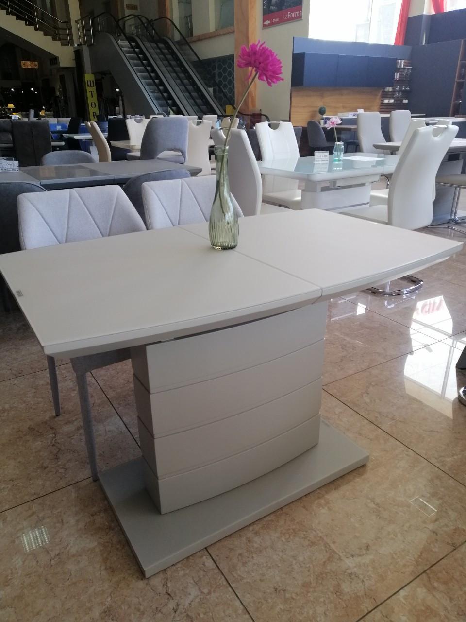Раздвижной стол TMM-50-2 Vetro Mebel 110/150, матовый капучино (бесплатная доставка)