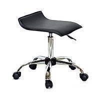 Офисный стул на колесиках из эко кожи с хромированным основанием ABAZ CH-OFFICE