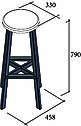 Барный табурет металлические ножки в стиле лофт Флай Металл-Дизайн с сиденьем из эко-кожи, фото 2