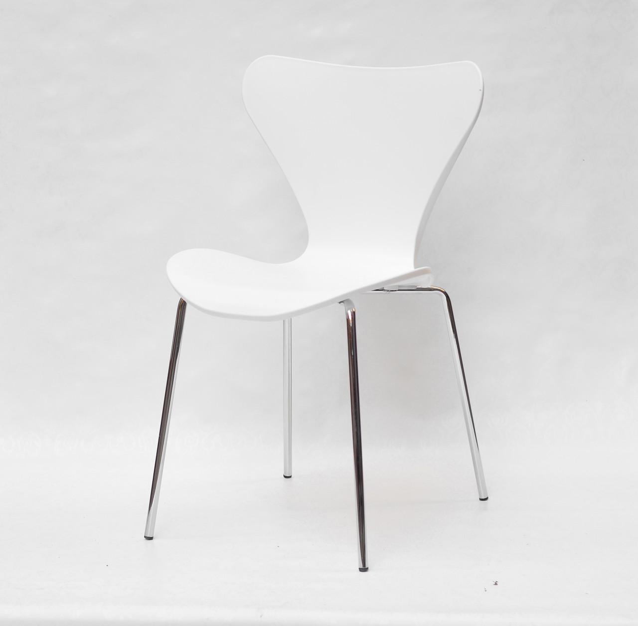 Стілець з пластиковим фігурним сидінням і хромованими ніжками Max Metal-2 - CH для сучасних інтер'єрів