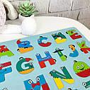 Дерев'яний англійський алфавіт кольоровий, англійська абетка, різнокольорова, пазл Алфавіт English для дітей, фото 5