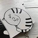 Ключница черно-белая Котята: настенная, оригинальная деревянная ключница с милыми котиками, фото 3
