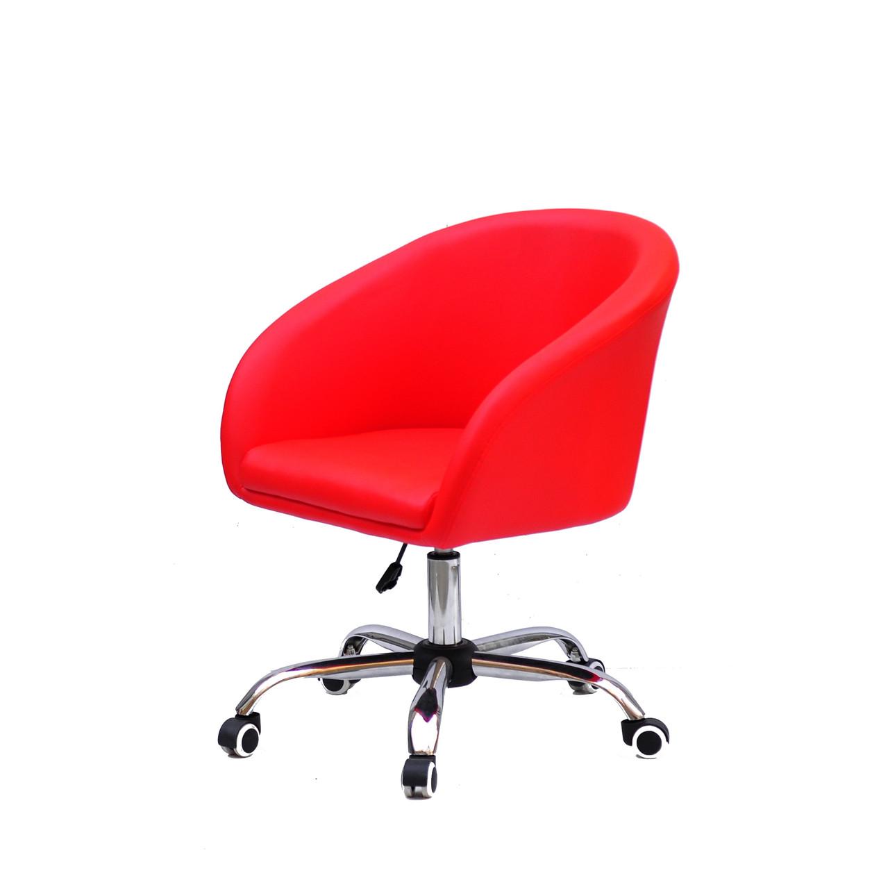 Стильное кресло из эко-кожи на колесиках ANDY CH-Office - кресло гримера, кресло стилиста, визажиста