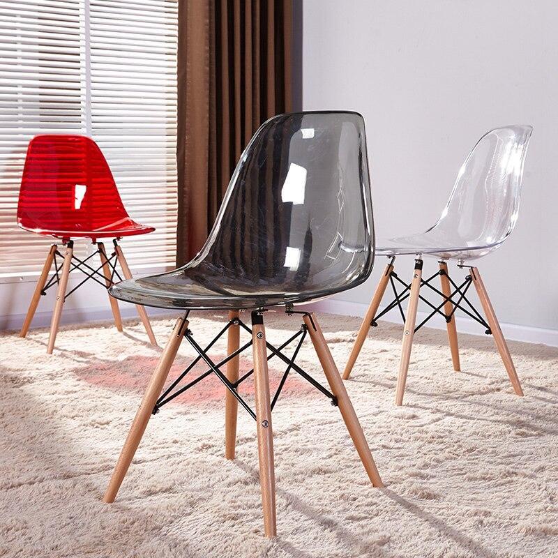 Димчастий стілець з пластиковим сидінням на дерев'яних ніжках Nik для барів, кафе, ресторанів, квартир