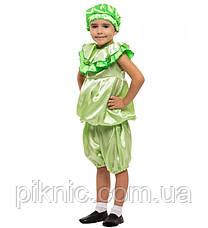 Детский карнавальный костюм Капусты Листика для детей 4,5,6,7 лет. Костюм овощи для мальчиков девочек 340, фото 3