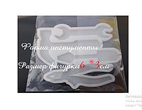 Молд силиконовый кондитерский для леденцов инструменты с отверстием для палочек разм фигурки 6*3 см
