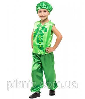 Детский костюм Горошек, Фасоль для мальчиков 4,5,6,7 лет. Карнавальный костюм овощи Горох для детей 340, фото 2