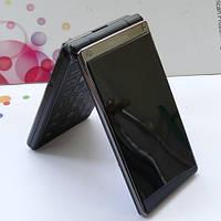 Телефон-раскладушка TKEXUN T12 (черный хром), фото 1