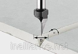 Фреза для выборки V-образного паза в листах гипсокартона HW S8 D12,5/45° хвостовик 8 мм Festool 491000