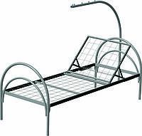 Кровать металлическая медицинская для пациентов с подъемным изголовьем и штангой ОПТОВАЯ ЦЕНА ДОГОВОРНАЯ