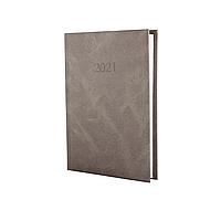 Щоденник датований 2021, MARBLE, 352 арк., бежевий, А5