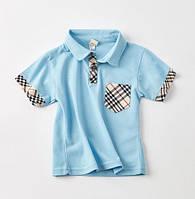 Тениска для мальчиков голубая 7496