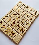 Руны деревянные опт, Ель, Сосна, Ольха, берёза ( 2,5 х 1,8 см ), фото 2