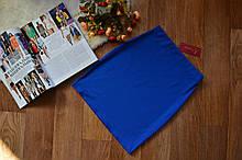 Женская трикотажная мини юбка, однотонная. Размеры 40, 42, 44, 46. Синяя