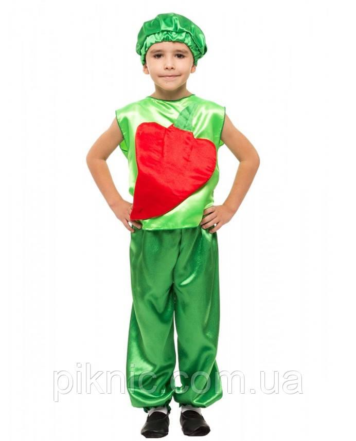 Детский костюм Перец сладкий для детей 4,5,6,7 лет. Карнавальный костюм овощи для детей 340