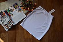 Женская трикотажная мини юбка, однотонная. Размеры 40, 42, 44, 46. Белая