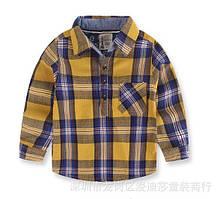 Рубашка для мальчиков желтая 8071