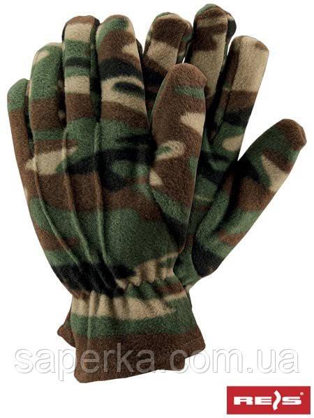 Перчатки флисовые камуфляж Reis Польша.