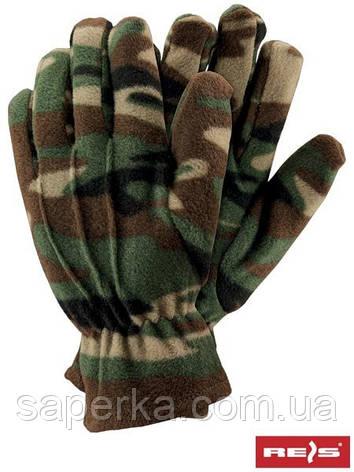 Перчатки флисовые камуфляж Reis Польша. , фото 2