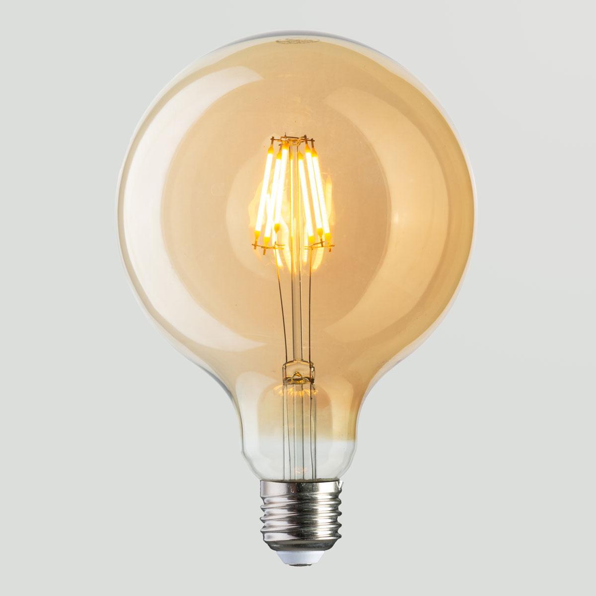 Вінтажна лампа Куля Horoz Filament Rustic Globe-6 2200K