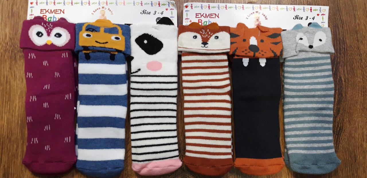 """Дитячі махрові шкарпетки з гальмами """"EKMEN"""" Туреччина 1-2 роки"""