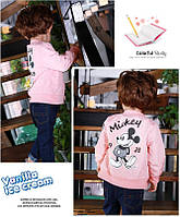 Бомбер для девочки Mickey розовый 3979