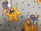Постельный комплект в кроватку + держатель для балдахина ( 9предметов)   Мишки на луне, фото 4