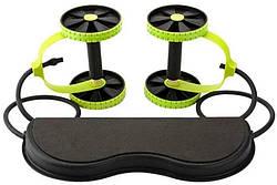 Домашний тренажер для всего тела Revoflex Xtreme, 6 уровней тренировки, черный с зеленым