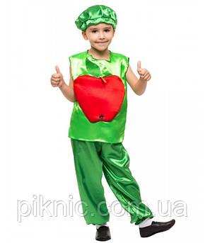 Детский костюм Яблоко для детей 4, 5, 6, 7 лет Карнавальный костюм для мальчиков девочек на праздник Осени 340, фото 2