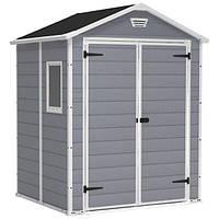 Садовый домик KETER MANOR 6 × 5 DD 228615 сарай пластиковый для инвентаря серый