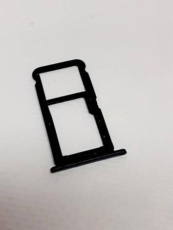 Лоток Sim-карт черный Tp-Link Neffos X9 TP913A оригинал , сервисный, фото 2