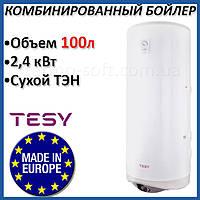 Бойлер 100 литров Tesy Modeco 2,4 кВт. Комбинированный накопительный водонагреватель с сухим ТЕНом. Кредит