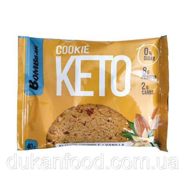 Keto Cookie, Миндальный крамбл и ваниль, Bombbar