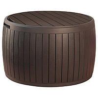 Садовый стол, ящик для хранения 230405 KETER CIRCA WOOD STORAGE BOX