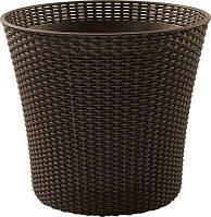 Кашпо для цветов KETER Conic Planter 231358 коричневое
