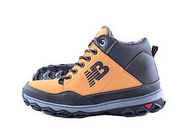 Мужские зимние ботинки в стиле New Balance Оранжевые Прошитые, с мехом