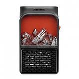 Портативний обігрівач з LCD дисплеєм Flame Heater Plus 500W з імітацією каміна, фото 2