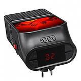 Портативний обігрівач з LCD дисплеєм Flame Heater Plus 500W з імітацією каміна, фото 3
