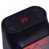 Портативний обігрівач з LCD дисплеєм Flame Heater Plus 500W з імітацією каміна, фото 5