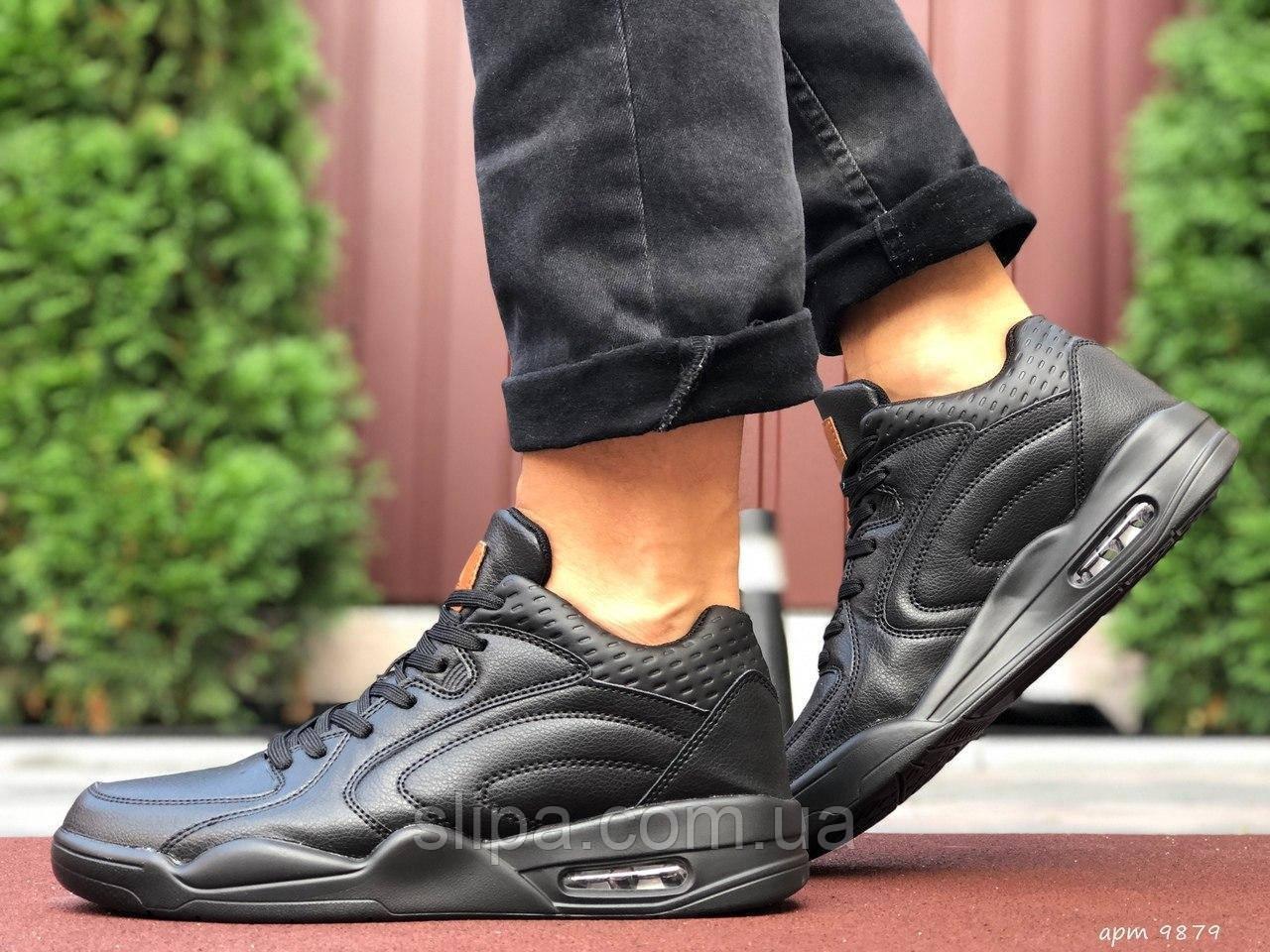 Чоловічі шкіряні кросівки чорні Stilli