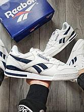 Чоловічі кросівки Reebok Classiс White/Blue (біло-чорні) 531PL