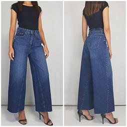 Жіночі прямі джинси кюлоти синього кольору Туреччина розмір 28 (Виміри в описі)
